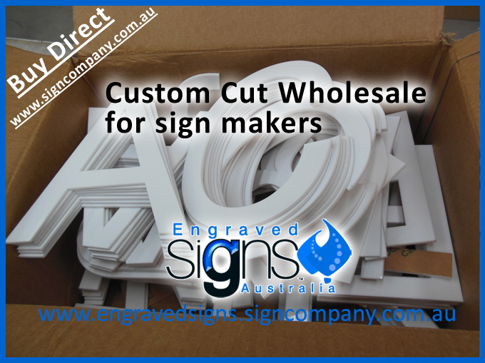 Box of letters for sign makers and wholesale shopfitting companies