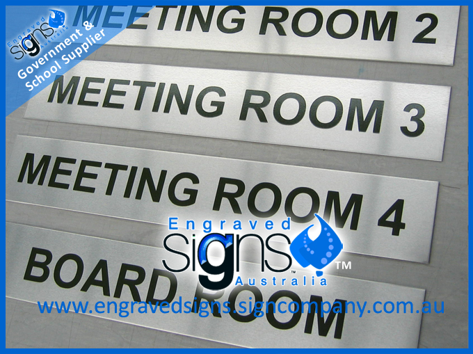 Meeting room and door signs