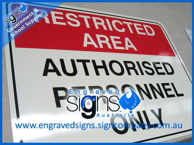 Restricted Area Authorised Personnel Only Metal sign for fence