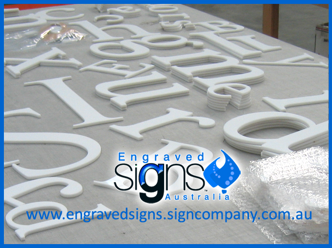 Various Plastic Letters Used For Signmaking (outdoor letters)