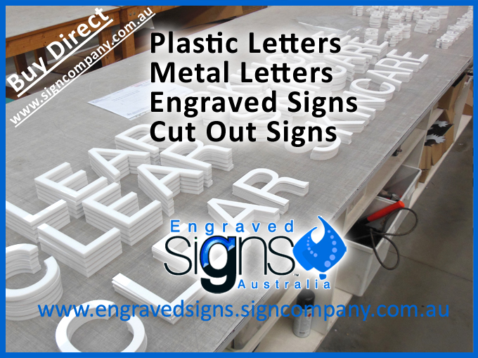 Shop signage makers like these cut out letters for inside shop wall sign