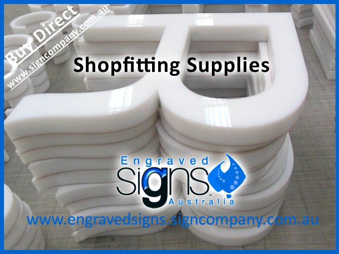 Shopfitting supplies of letter signage cutting